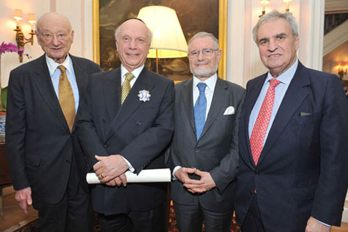 New York – King Juan Carlos I Of Spain Knights ACF President