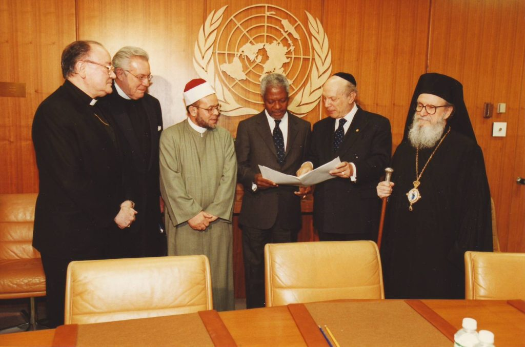 "– Signing of ""UN Resolution for the Protection of Religious Sites"""