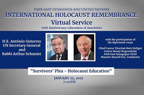 International Holocaust Remembrance Day: A Survivor's Plea